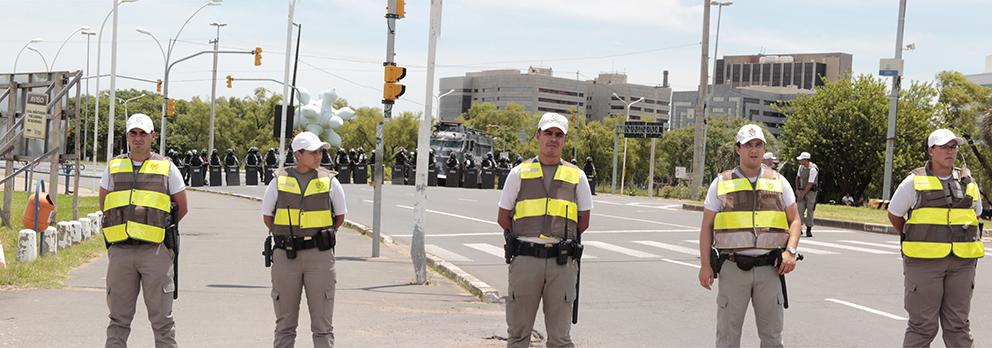 Segurança montado em POA no julgamento de Lula (expectativa de violência)