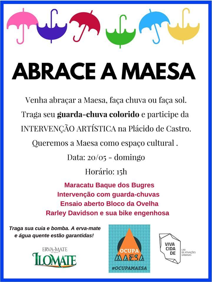 Cartaz: abrace a Maesa