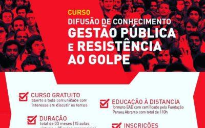 Difusão do conhecimento em gestão pública e resistência ao golpe – região Serra
