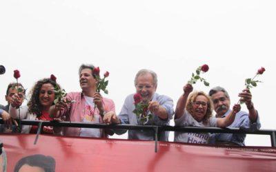 Fernando Haddad esteve em Caxias do Sul, em campanha