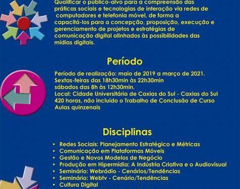 Especialização em Comunicação Digital UCS/PUCRS