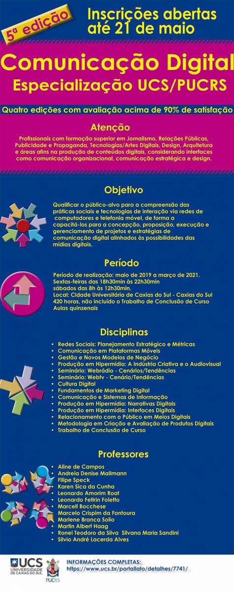Especializaç˜so em Comunicação Digital UCS/PUCRS