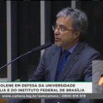 Cláudio Lorenzo, Diretor da UNB, em defesa da Universidade e do Instituto de Educação