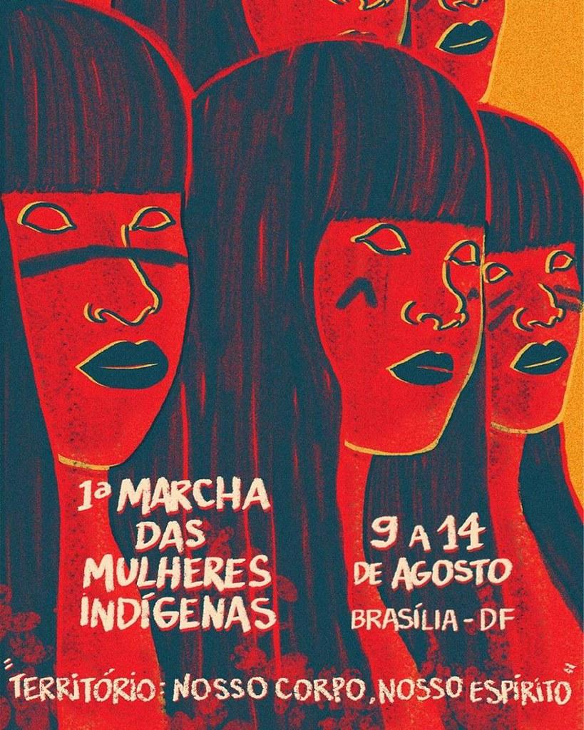 Mulheres indígenas e camponesas em Brasília de 9 a 14 de agosto